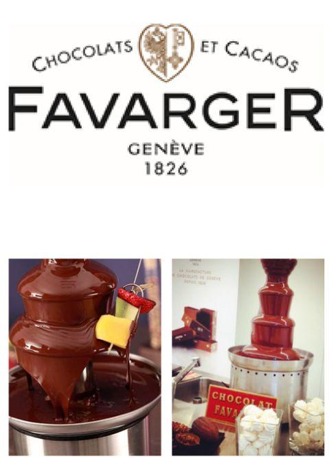szwajcarska fontanna czekolady